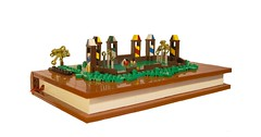 Quidditch Book (Legopard) Tags: sport illustration book lego harrypotter micro quidditch legopard mocathalon