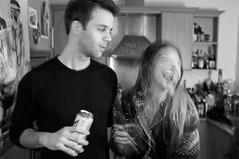 LOL (Gary Kinsman) Tags: party bw motion london night drunk houseparty hair fun blackwhite movement chat action lol candid flash motionblur laugh late smashed unposed clerkenwell slowsync ec1 trashed laughoutloud 2013 fujix100 fujifilmfinepixx100