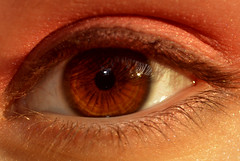 Eye (JuliaDono.) Tags: pink red brown white black eye lines nikon shine skin makeup flange pupile d3200