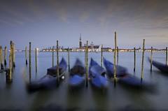 Gondolas in Venice (Torstein aka TR) Tags: longexposure venice italy gondola bluehour sanmarco sangiorgiomaggiore pentaxda1224mm singhraywarmingpolarizer singhrayvarind pentaxk5iis