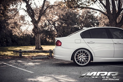 BMW_E90_MRR_GT7_WHEELS_03 (MRR WHEELS) Tags: white silver wheels bmw hyper hs concave bimmer mrr e90 gt7 335i