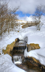 Little Trickle (Glenn Cartmill) Tags: uk ireland snow nature water canon river stream unitedkingdom glenn scenic northernireland snowscape ulster countydown trickle itscoldoutside spelga cartmill 650d t4i picturesofireland glenncartmill