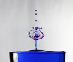waterdrop 2 (Dan Chandler) Tags: blue colour macro water canon eos 50mm interesting waterdrop 14 drop 7d usm splash liquid waterdrop2flash
