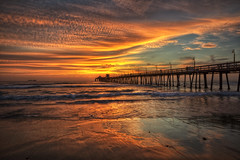 Epic Sunset (x-ray tech) Tags: california sunset sea summer sky orange sun seascape color detail reflection fall beach wet weather yellow clouds composition contrast season landscape pier interestingness amazing interesting twilight sand flickr heaven waves ship glow shot bright sandiego superb dusk vibrant unique awesome iii tide horizon radiance vivid clarity surreal spray sharp clear explore pacificocean level epic brilliant radiant hdr highdynamicrange brilliance imperialbeach afterglow vibrance photomatix ef1635mmf28l nicecapture canoneos5dmarkii adobephotoshopcs5
