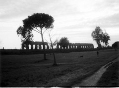 Image 1 (10) (Gothic74) Tags: blackandwhite bw lomography kodak 110 orca biancoenero hc110dila parcodegliacquedotti fotografiatradizionale gothic666 aqueductspark