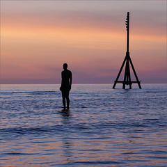 My Favourite Things No 14: Antony Gormley's Another Place (Explored) (hehaden) Tags: sunset sea sculpture beach nature statue availablelight sony ironman za crosby antonygormley milemarker ironmen variosonnartdt35451680