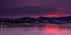Deep Red Sky. (Ollie Smalley Photography  Travelling) Tags: longexposure sunset red sky lake water canon reflections landscape thailand eos town saturated village state cloudy mark vibrant burma small deep karen le ii getty reflective 5d mon fullframe pylons ff gettyimages vibrance osp sangkhlaburi lseries llens northeastthailand exposureblend floatingvillages monisland lightroom4 olliesmalleyphotography burmesethailandborder