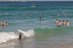 140413_0058 (amblerpix) Tags: blue beach clouds swimming fun surf day sunny australia bluesky newsouthwales swimmers tasmansea crowds sunbathing coogee lifeguards surfrescue autumnday