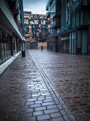 Clerkenwell (DanBaxter) Tags: urban london rain commute cobbles clerkenwell washedout