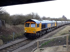 GBRf 66712 at Shirebrook (thestig2) Tags: go shed rail railway 66 class round merry coal mgr colliery thoresby shirebrook gbrf 66712