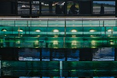Reflections (debeeldenplukker) Tags: reflections green blue water window fujifilmxt1 light
