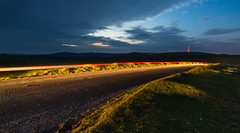 Driving through the moors (daledare17) Tags: longexposure motion night clouds lights movement moors dartmoor samyang14mm