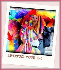 Liverpool Pride 2016 (* RICHARD M (Over 5 million views)) Tags: liverpoolpride liverpoolpride2016 pride gaypride lgbt gay design persona spitt impressions characters portraits portraiture streetportraits streetportraiture candid candidportraits candidportraiture artyfarty polaroid liverpool merseyside europeancapitalofculture capitalofculture mask masked impressionism characterization art manipulatedimagery manipulatedimages carddesign posterdesign street artwork alternativelifestyle parades celebrations feathers garlands minorities