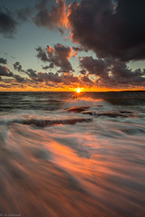 Wave_ (JLindroos) Tags: sunset seascape rock sky sea clouds rays sun horizon colorful waves wave canon zeiss lee filters finland pori jlindroos summer