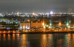 Tokyo harbor container pier3_Tokyo Telecom center view room (sapphire_rouge) Tags:  aoumi rainbowbridge bay japanese      tokyobay  nightview  wangan shore  japan rinkaihukutoshin  kotoku seaside