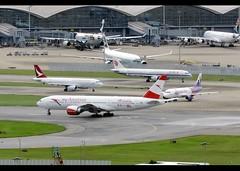 Boeing | 777-2Z9/ER | Austrian Airlines | Servus Hong Kong | OE-LPD | Hong Kong | HKG | VHHH (Christian Junker | Photography) Tags: nikon nikkor d800 d800e dslr 70200mm teleconverter plane aircraft boeing b7772z9er b777200er b772er b777 b772 b77e austrianairlines myaustrian os aua austrian os068 aua068 austrian068 oelpd staralliance widebody heavy triple7 spiritofaustria servushongkong specialcolours specialscheme speciallivery departure takeoff lineup 25l airline airport aviation planespotting 35960 607 35960607 hongkonginternationalairport cheklapkok vhhh hkg clk hkia hongkong sar china asia christianjunker cc lantau flickraward flickrtravelaward hongkongphotos superflickers worldtrekker zensational newroute myaustrianmoment servus