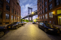 Special evening view to Manhatten Bridge - New York City - USA (R.Smrekar-CH) Tags: bridge newyork smrekar tiltshift usa d750 city 000100