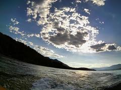 Hidden sun (SmartFireCat) Tags: instagramapp uploaded:by=instagram shuswap lake lago lac british columbia canada canad clouds nubes sun sky ciel cielo himmel water agua eau wasser