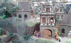 Ciudad medieval (lalex24) Tags: exposicionplaymobil playmobil ciudadmedieval casa clik clak alcon conejo perro gato paloma