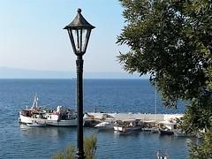 Fishing Escape (sanDr.a.92) Tags: sea seaside coast shore summer fishing outside outdoor boat boats dock lantern macedoniagreece macedonian makedonia timeless