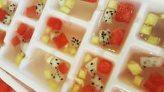 Fruit jellies (Roving I) Tags: fruit jelly foodpreparation jackfruit watermelon pineapple cafes cabanon danang dining vietnam