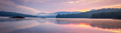 Am I  awake or still dreaming? (bprice0715) Tags: canon canoneos5dmarkiii canon5dmarkiii landscapephotography landscape nature naturephotography panorama pano adirondacks adirondackmountains indianlake adirondackpark sunrise clouds mist fog colorful colors vibrant sky reflection symmetry