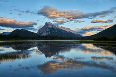 Sunset over Vermillion Lakes (Erik Pronske) Tags: banffnationalpark mountrundle canadianrockies vermillionlakes nationalpark rockymountains reflection mountains water canada banff landscape alberta clouds improvementdistrictno9 ca