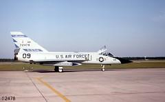 120th FIG Convair F-106A Delta Dart 57-2478 (09) (Wing attack Plan R) Tags: f106a 572478 convair deltadart 186thfis 120thfig montanaang williamtellmeet 1982 tyndallafb interceptor fighter usaf