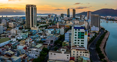 Da Nang (free3yourmind) Tags: danang vietnam city view top above river han sunset clouds