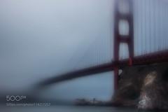 Dream Bridge (LMortgages158) Tags: landscape fog city water travel light bridge blur san francisco usa golden gate