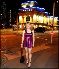 Gemma on the Nottingham Invasion Sept 2016 - Outside Pryzm Nightclub. The best ever photo of me. (GemmaSmith_TVUK) Tags: nottingham invasion 2016 tgirl tgirls tv crossdresser sexy fun hot pose legs blonde