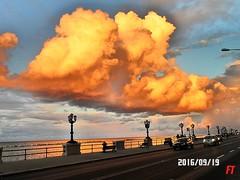 Spettacolo sul Lungomare (triziofrancesco) Tags: bari mare lungomare cumuli cumulonembi triziofrancesco clouds riflessi orange sky cielo sea puglia