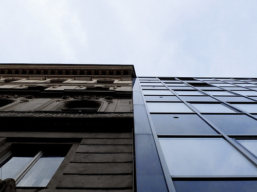 Old / New Facade Contrast