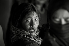 Ladakh. Korzok. N&B (courregesg) Tags: portrait people bw woman india nb himalaya ethnic ladakh korzok