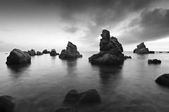 (mustapanki) Tags: longexposure sea bw seascape nature canon mar rocks natura paisaje bn costabrava rocas roques paisatge mustapanki