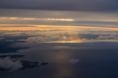 Flying to Islay (Ballygrant Boy) Tags: sea sky cloud sun weather scotland flying aerial islay sonynex6