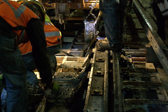 Track Work Near Clark/Division - 2/16 (cta web) Tags: railroad work ties underground subway concrete construction track cta tubes tracks railway tunnel rails redline rebar ctaredline