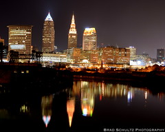 Cuyahoga River Cleveland Skyline (B.G.Schultz-Photography) Tags: ohio skyline nikon nightscape cleveland d7000