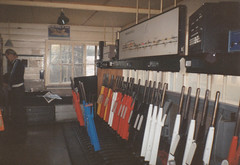 Inside Birkenhead North No1 Signal Box February 1991 (Renault Captur Keeper) Tags: 1 box north number birkenhead signal