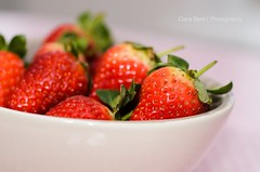 Strawberries (clickinmum) Tags: pink red fruit nikon flash sb600 strawberries bowl 60mm 60mm28micro d7000