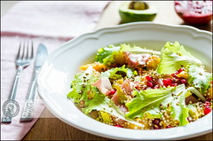 Fresh salad | :-) (Cristian Sabau | Photography) Tags: light food kitchen photography avocado daylight salad nikon europe flickr pomegranate tasty fresh seeds delicious homemade mango romania ingredients panceta freshfood trnasylvania