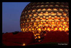 Matrimandir, Auroville (Mayank...) Tags: glass yoga architecture temple golden hall globe perfect peace mother sri sphere soul dome meditation spiritual disc pillars largest ashram pondicherry auroville matrimandir aurobindo mahalakshmi maheshwari pedestals optically mahakali puducherry mahasaraswati