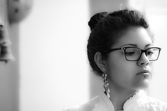 62of365 (Ana Zagal) Tags: bw woman selfportrait blur eye glasses blackwhite piercing thinking filmmaker stronger intelectual