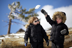 Snowball (catherinelaceyphoto) Tags: family winter boy snow mountains love girl kids canon children kid child father joy daughter mother son angelesnationalforest losangelesphotographer catherinelacey