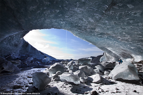 Ice cave photography in Iceland