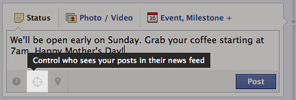 Target your Posts in Newsfeed