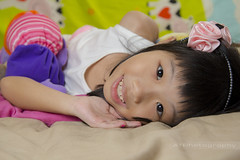 Kids Portrait (Alphone Tea) Tags: life light shadow portrait white black cute art beautiful smile childhood closeup kids composition contrast umbrella pose print children toys photography photo amazing bed model colorful asia pretty little sweet bokeh modeling sister room flash models chinese adorable indoor age malaysia sweets lovely staring softbox kuantan 1755 speedlite ste2 2013 60d 580exii