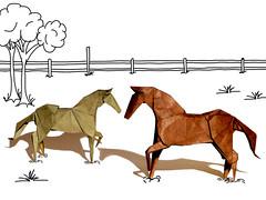 Horse (Hideo Komatsu) (Danielle Verbeeten) Tags: horse art paper origami kunst papier paperfolding papiroflexia komatsu folding paard paarden hideo vouwen vouwkunst papierkunst danielleverbeeten