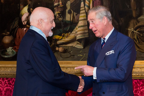 Sir Peter Moores is presented with the Prince's Medal for Arts Philanthropy by HRH Prince Charles © ROH 2012