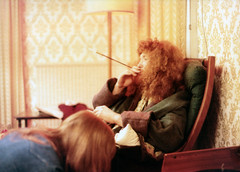 Patrick Little 18.4.74 (smartsetpix) Tags: cigarette smoking hippie smoker redhair holder
